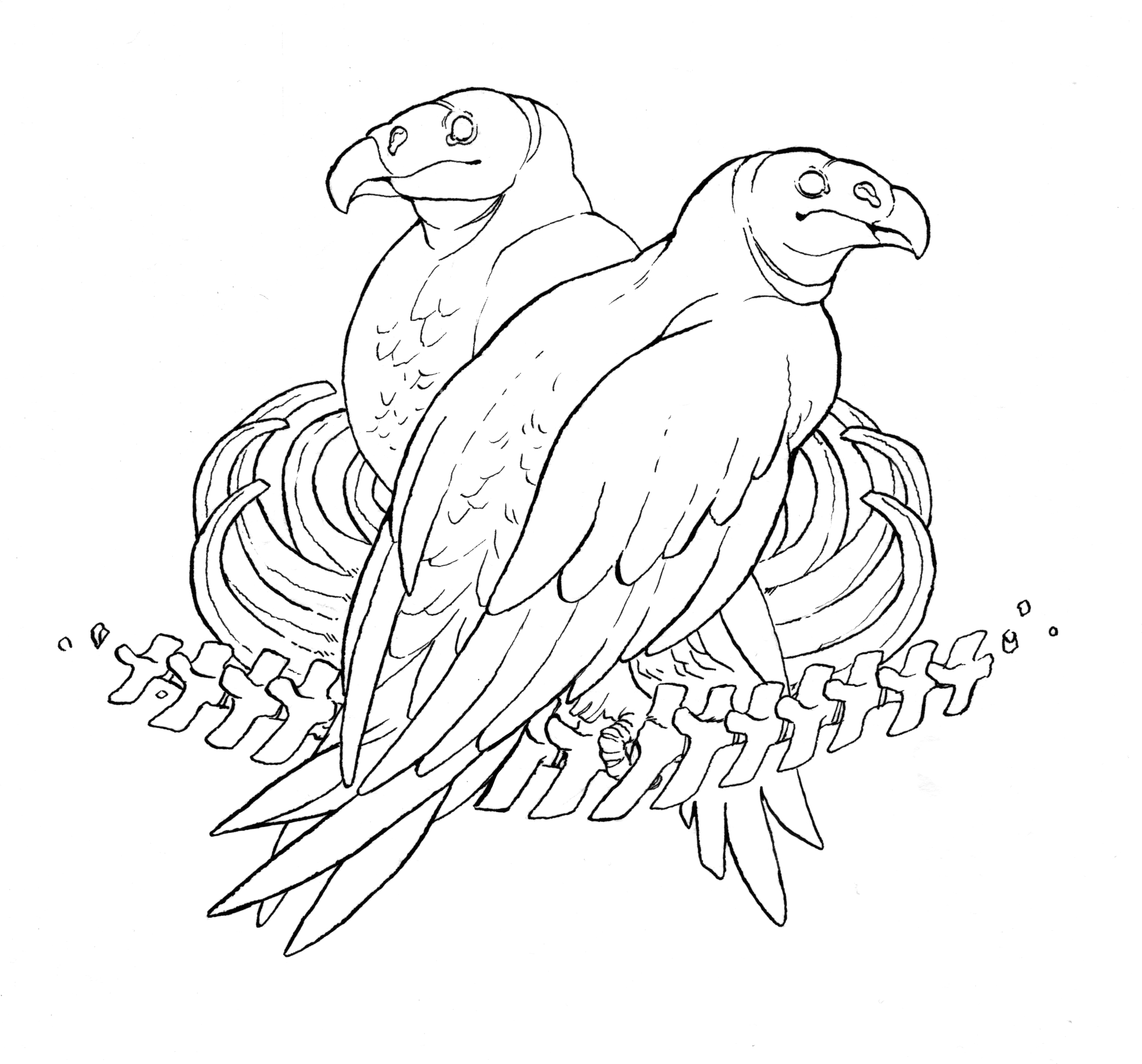 """Lineart for """"Vulture Culture"""""""