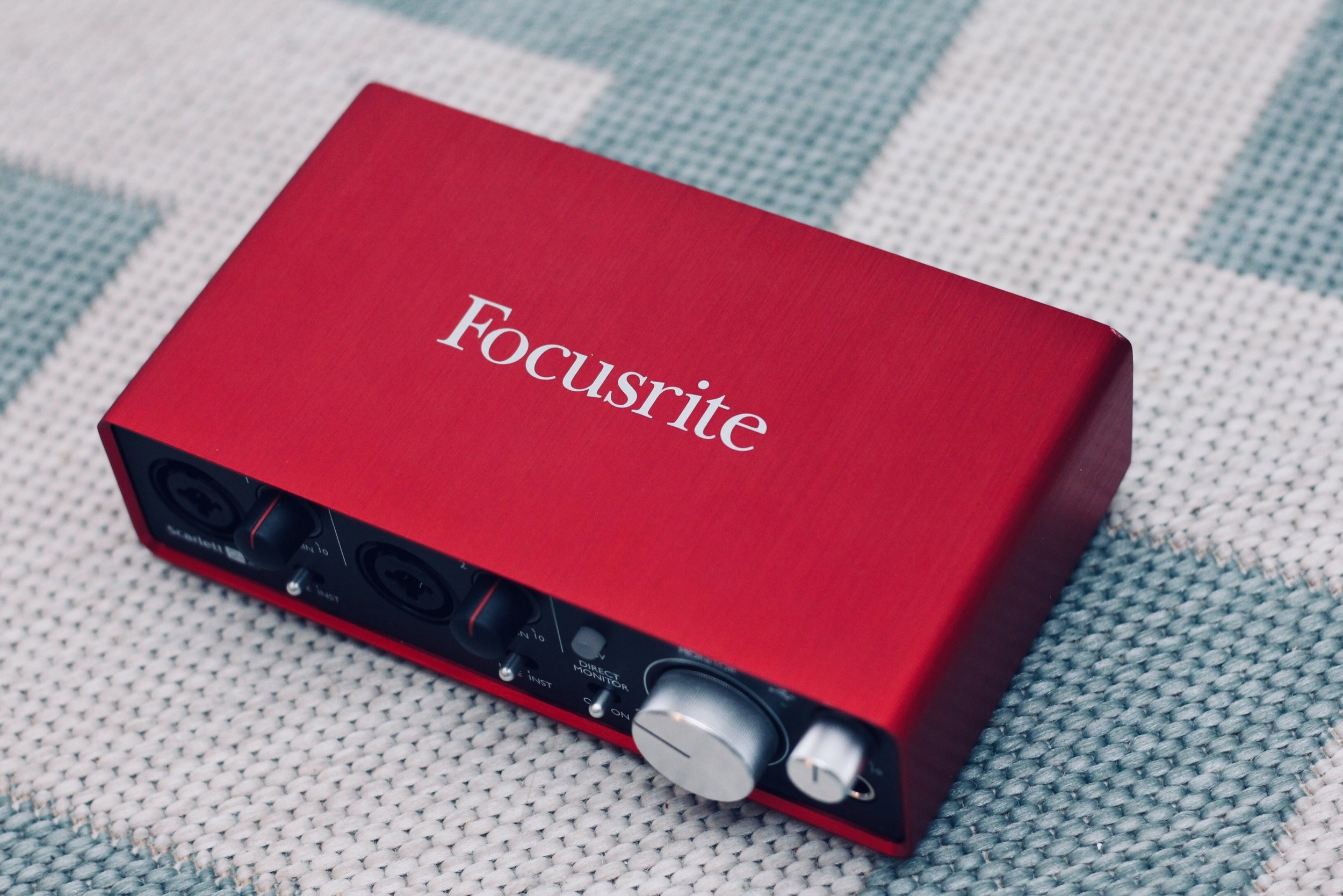 The Scarlett Series by Focusrite is a great choice. Plus, they're all very red. Photo by  Sven Brandsma  on  Unsplash