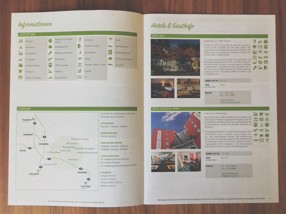 Broschüre Sinsheimer Erlebnisregion