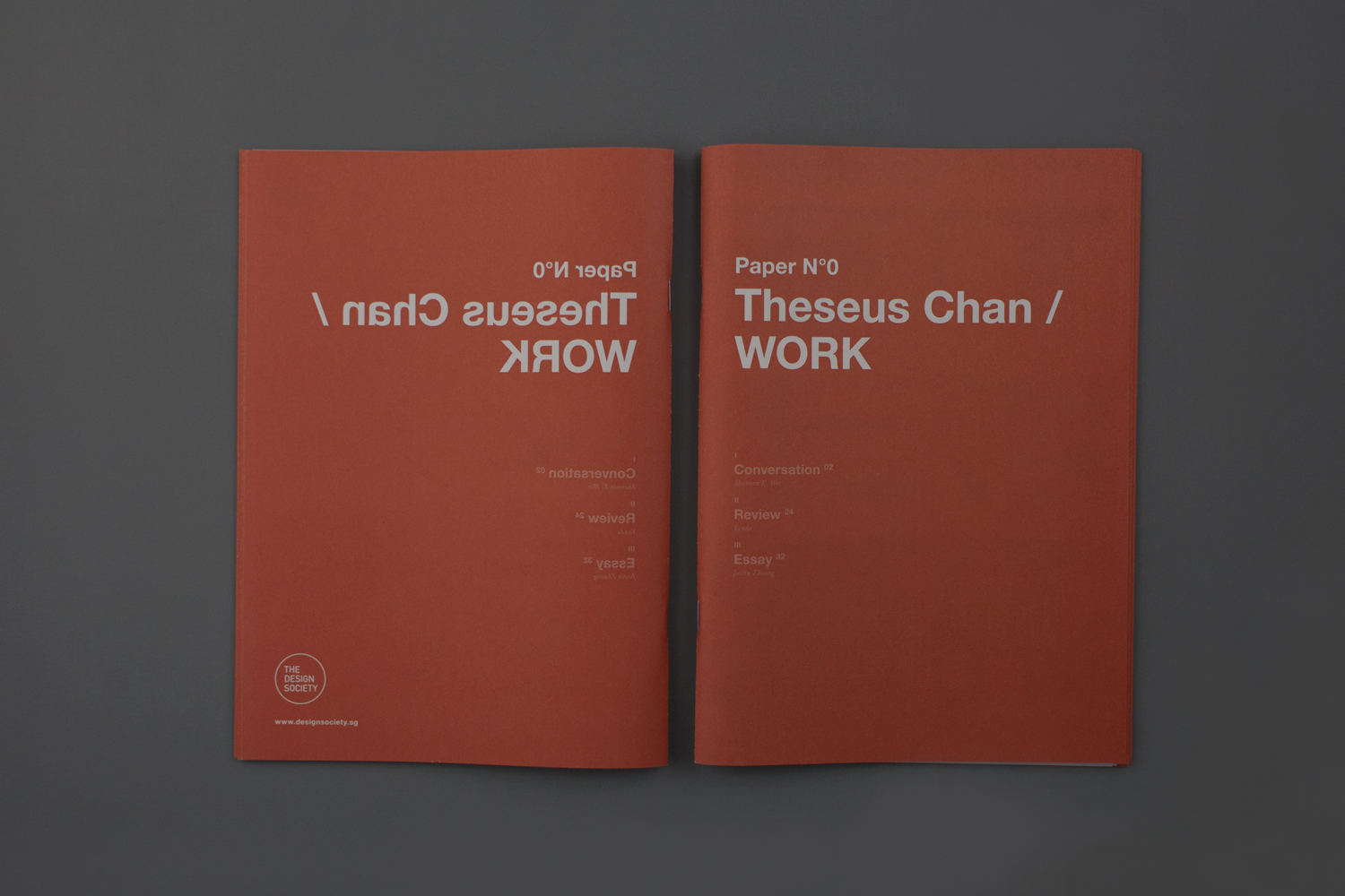 The Design Society Paper Nº 0: Theseus Chan / WORK