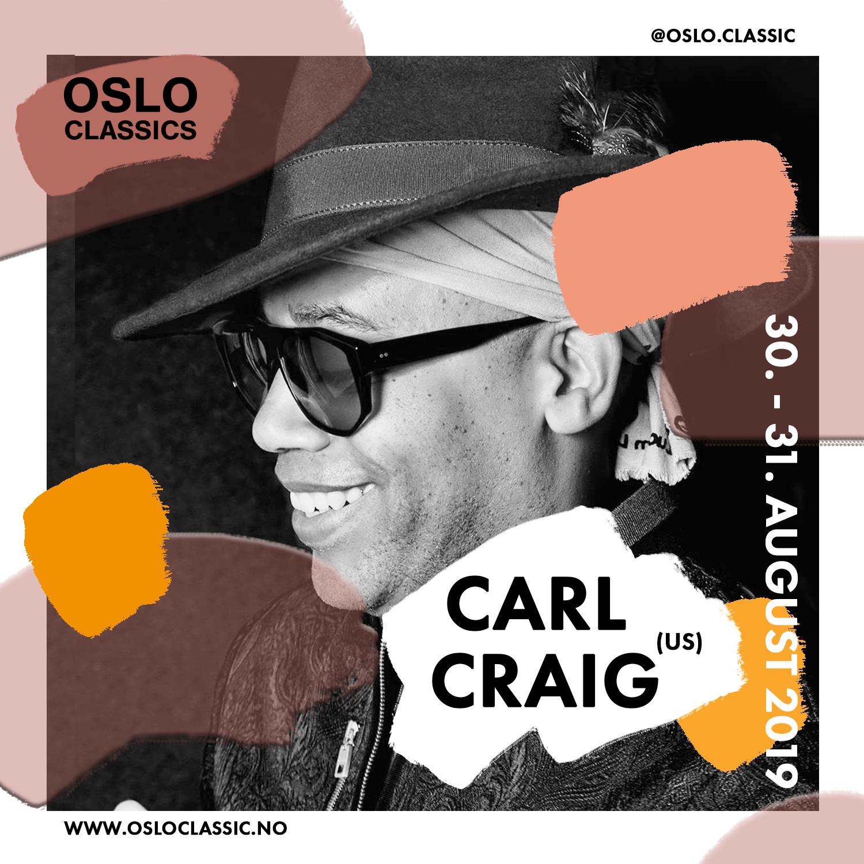 Carl Craig & Kringkastningsorkesteret (KORK) - Friday 30th of August19:30 @ Oslo Classic, Salt(For English, please scroll down)Dette vil du ikke gå glipp av. Det er mye, det er mektig, og det er vanvittig forfriskende!