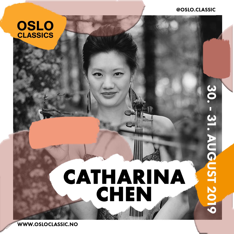 Catharina Chen feat. Kringkastningsorkesteret (KORK) - Friday 30th of August18:30 @ Oslo Classic, Salt(For English, please scroll down)Catharina Chen blir regnet for å være en av Norges fremste musikere, og har vært ansatt som 1. konsertmester i Operaorkestret siden 2012. Nå kan du se henne sammen med Kringkastningsorkesteret (KORK)!
