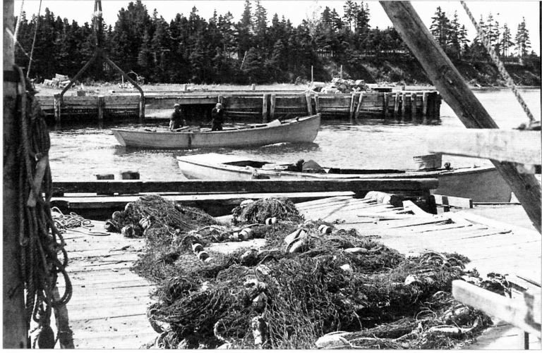 Done for the Day. Fortune Harbour 1941.