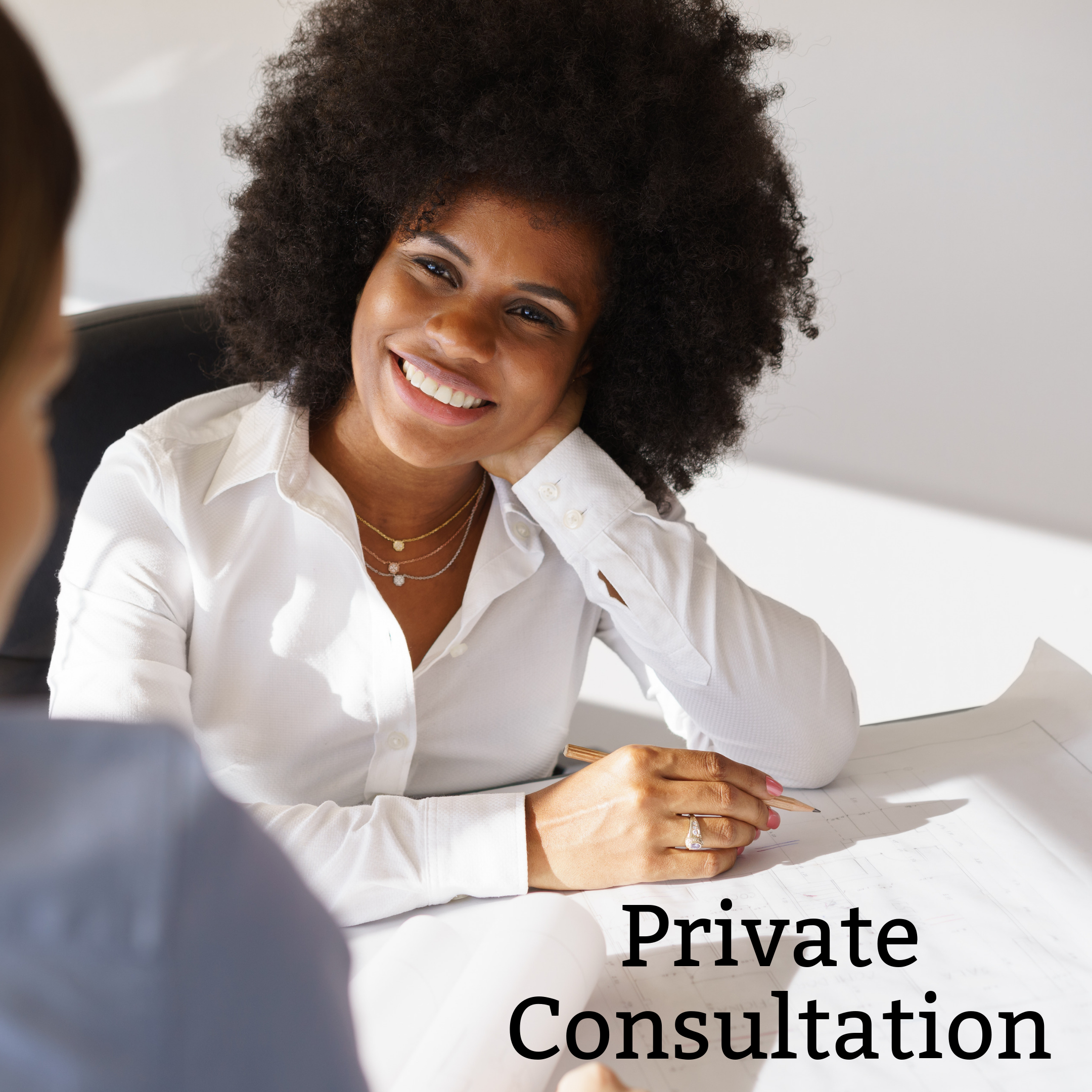Private consultation - Private Consultations are open-ended sessions on your preferred topic(s). These consultations are scheduled in 45-minute intervals.