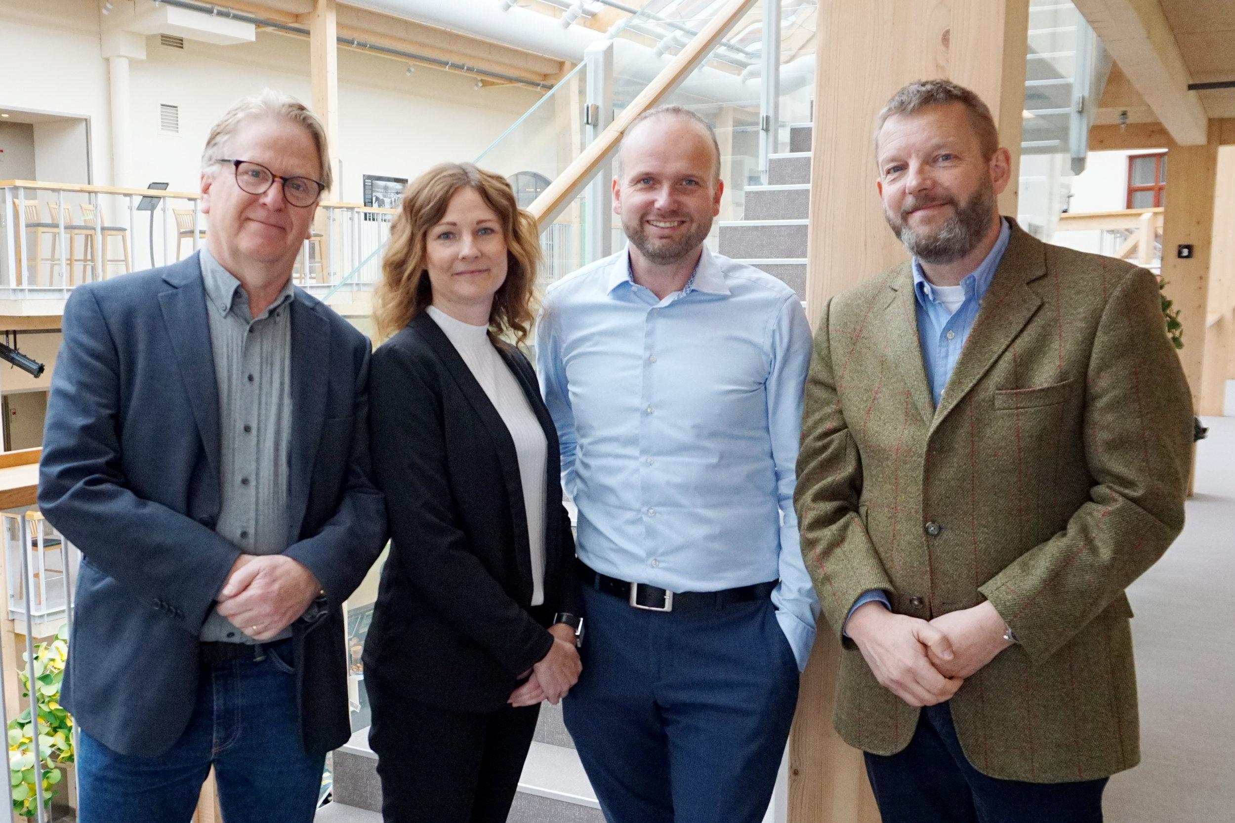 Hans Ekståhl och Camilla Bäckman - Bolagsverket, Lars Persson Skandevall - Bron Innovation och Magnus Hedin - Biometria.