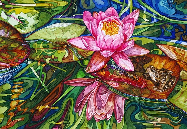 Rhian Symes' vibrant watercolours will soon grace the walls of East Gate Gallery
