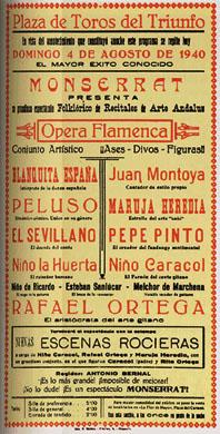 Opera Flamenca Poster 1940