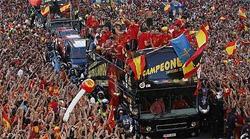 Spain World Cup Winners in Madrid