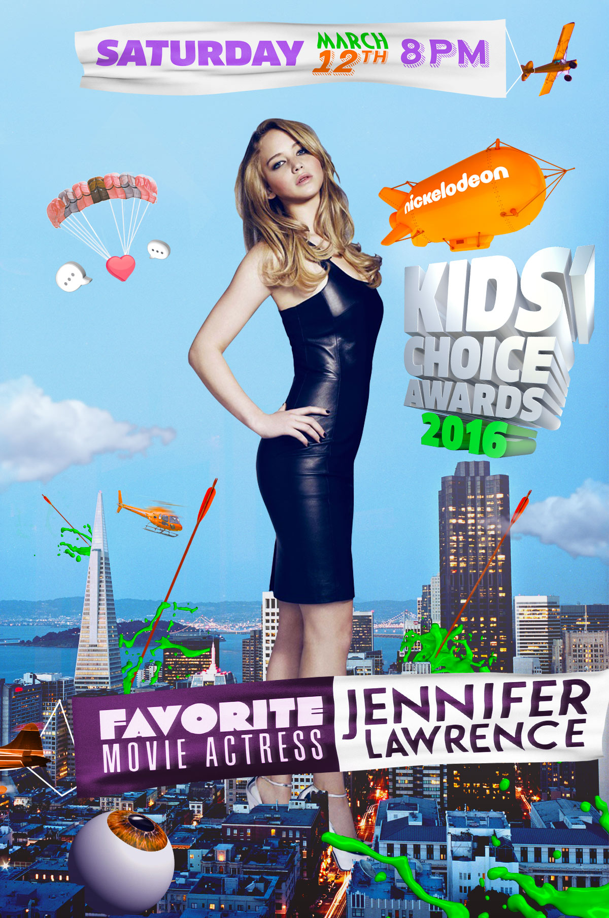 Design style frame 02 for Nickelodeon Kids Choice Awards promo