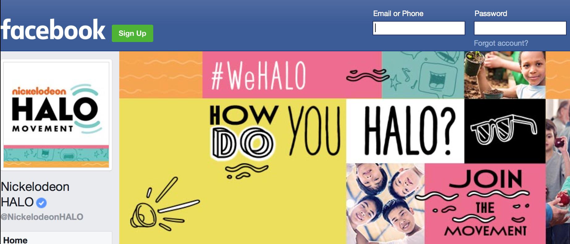 Social media screen shot of Nickelodeon facebook page