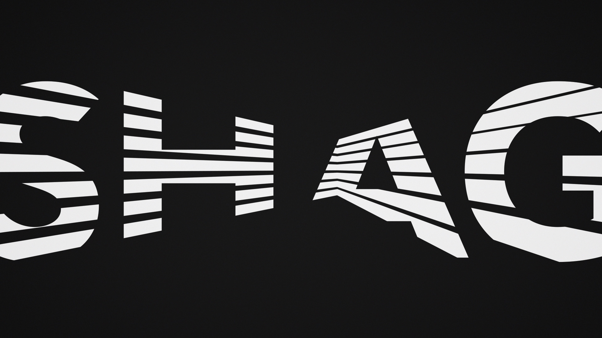 WisdomTree SHAG design style frame from the video featuring typography