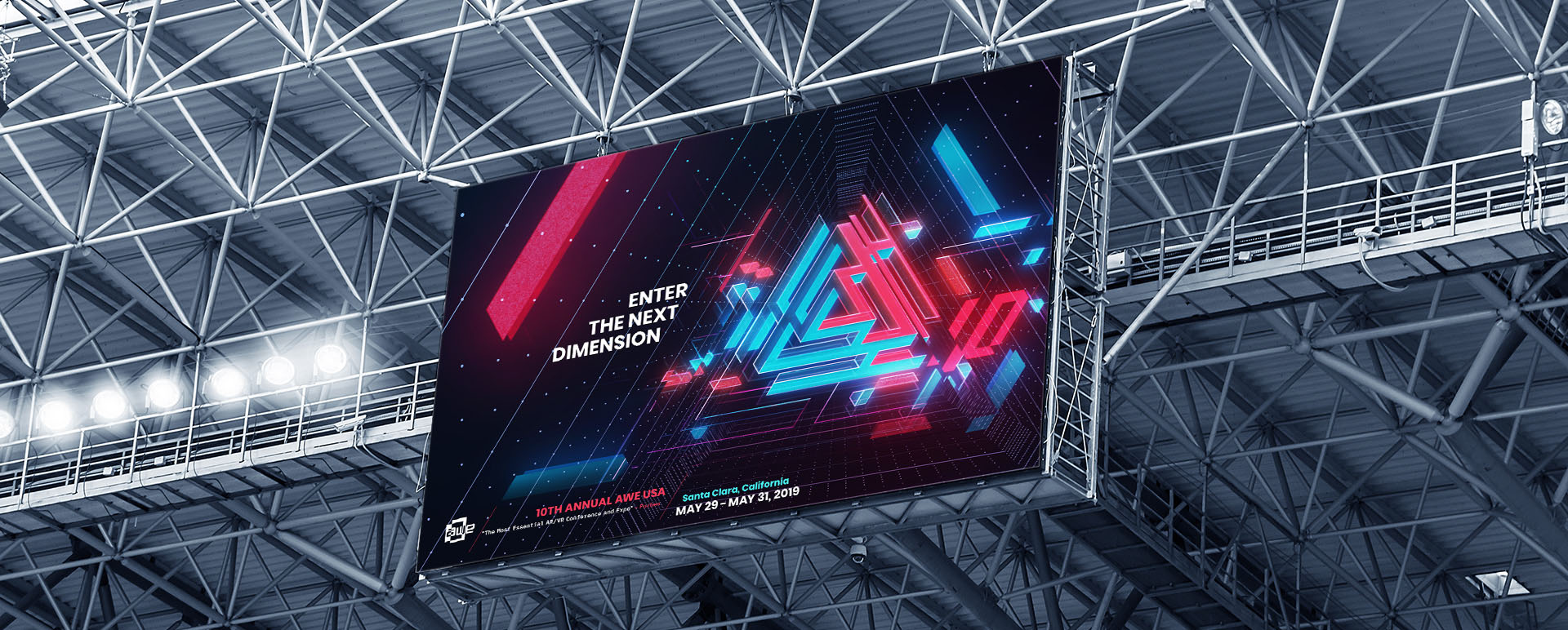 Visual design theme mock up 01 for AWE 2019 visual theme