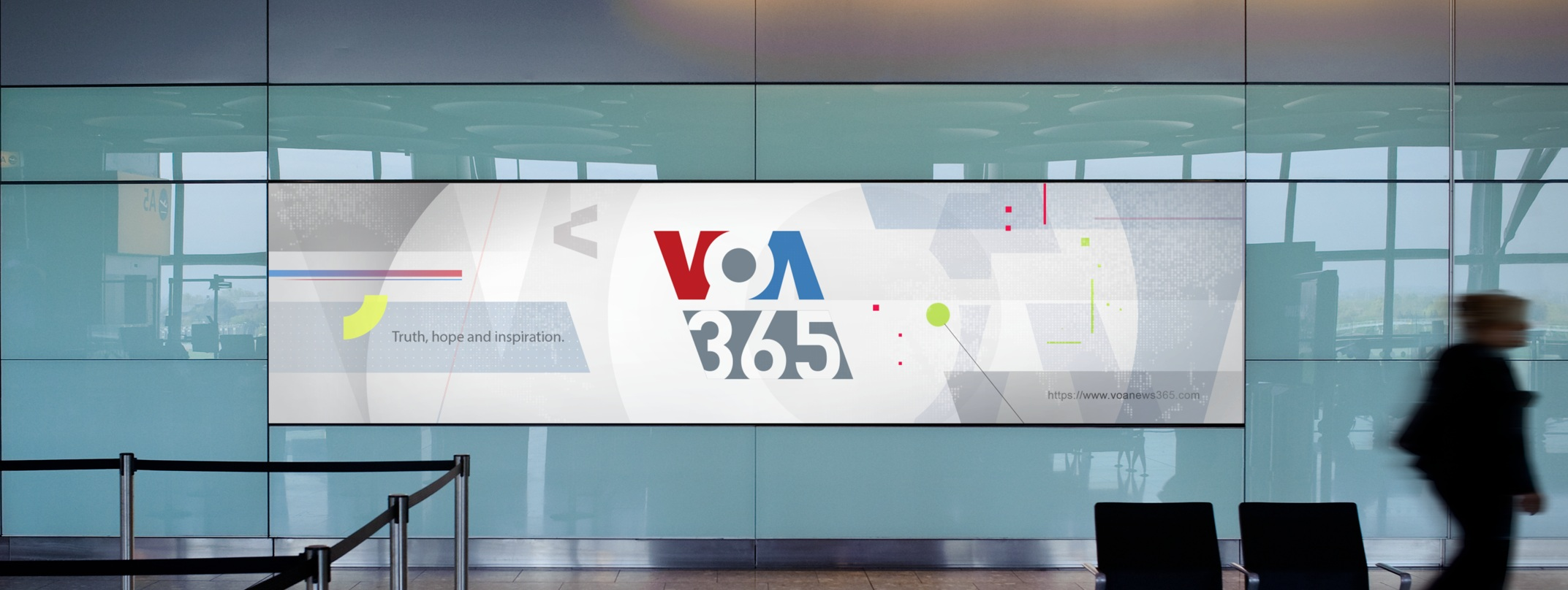 Design style frame 02 for Voice of America 365 Off-Air