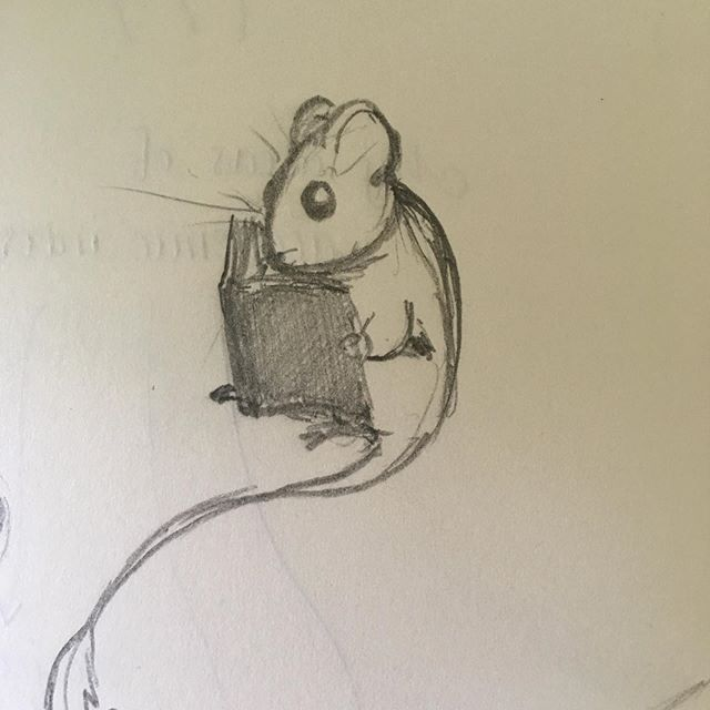 A very short story over several notebooks.  #illustration #dormouse #squirrel #pencil #ink #roughdrawing #sketching #asis