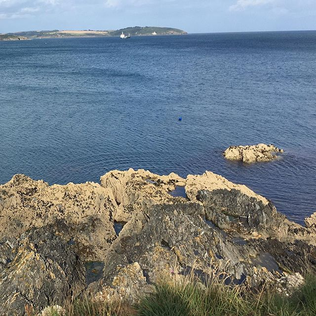 On Tuesday I sat on a cliff. It was pretty.  #view #sea #falmouth #clifftop #nofilter #nofilterneeded #lifebythesea
