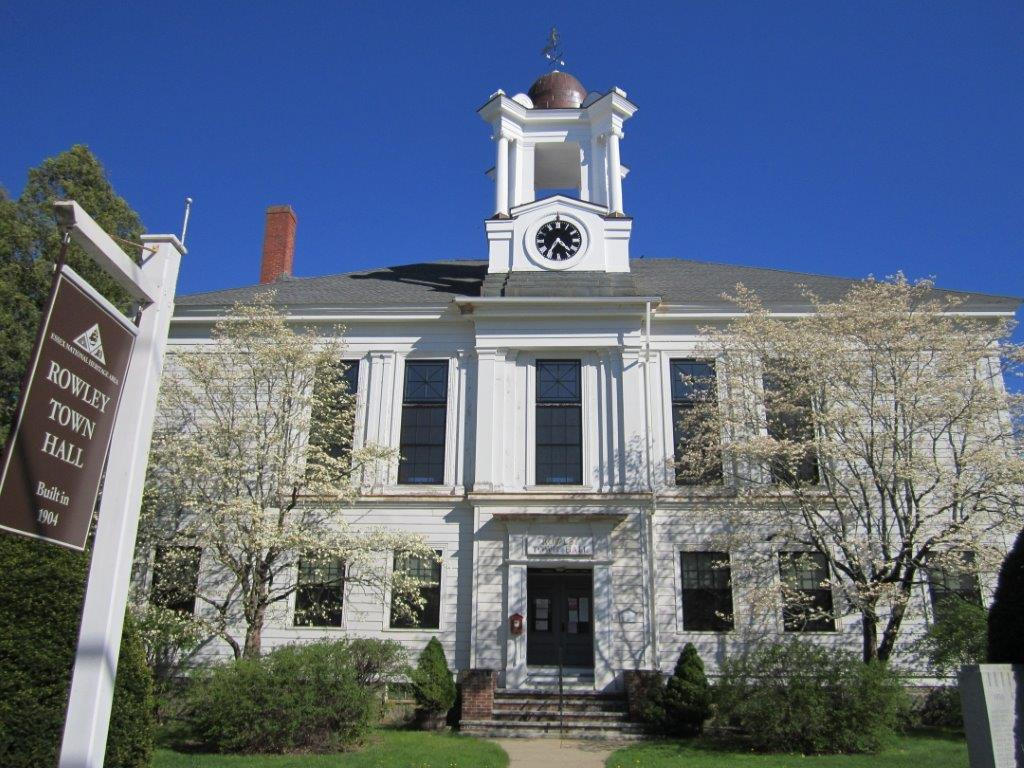 Rowley, Town Hall Cupola and Clock view of full building.jpg