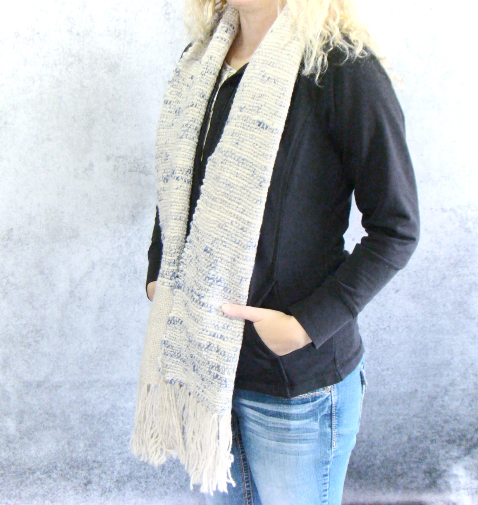 Blueberry Cheesecake Handwoven Scarf by Kristina Smiley