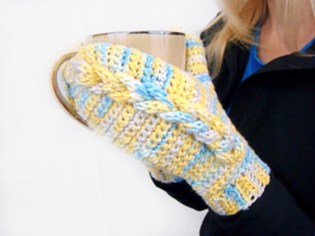 Braided I Cord Mittens