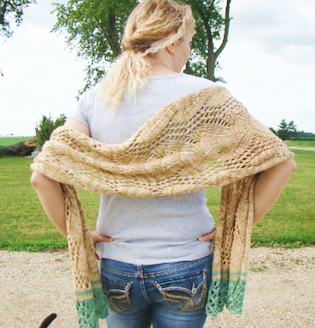Golden Springs Knit Shawl