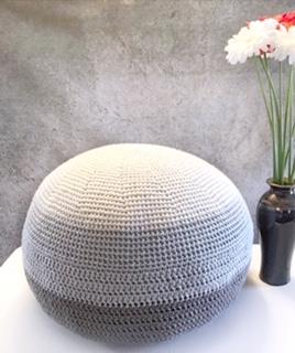 Oscaloosa Crochet Ottoman
