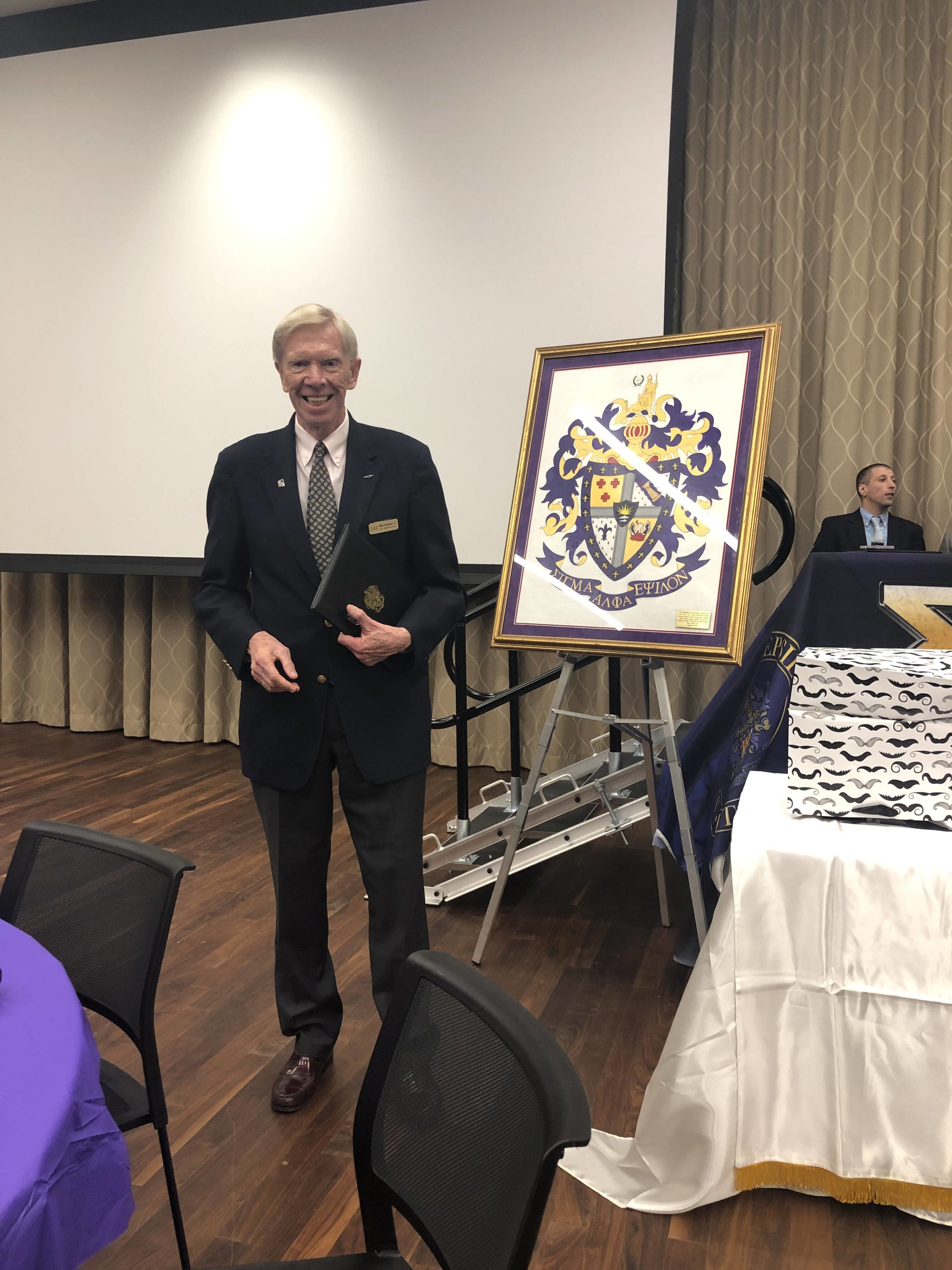 Mike Donahoe, OK Kappa '62 receives the Order of the Lion Award