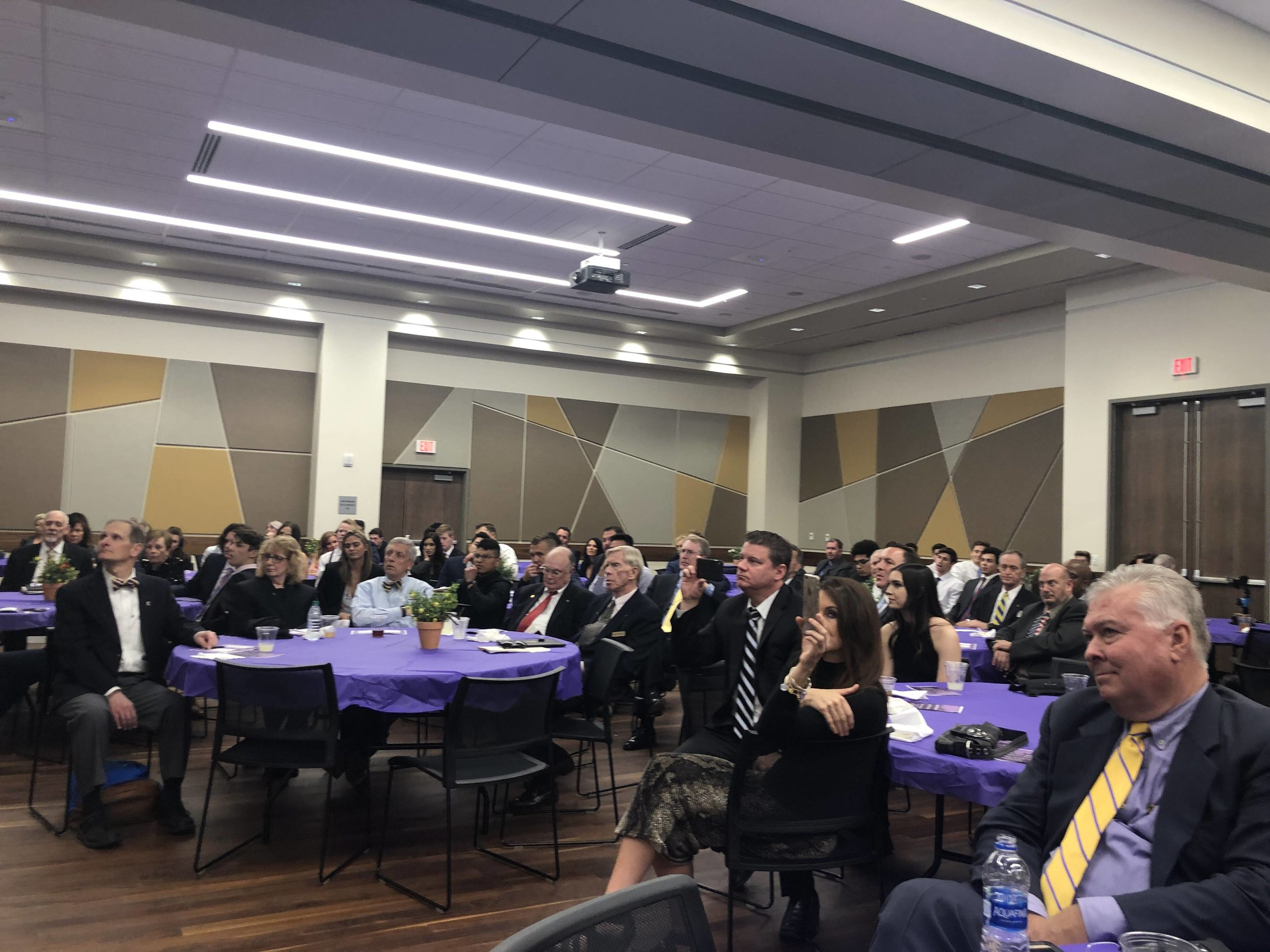 A banquet style dinner for 180 guests and chapter initiates at Greek Leadership Village