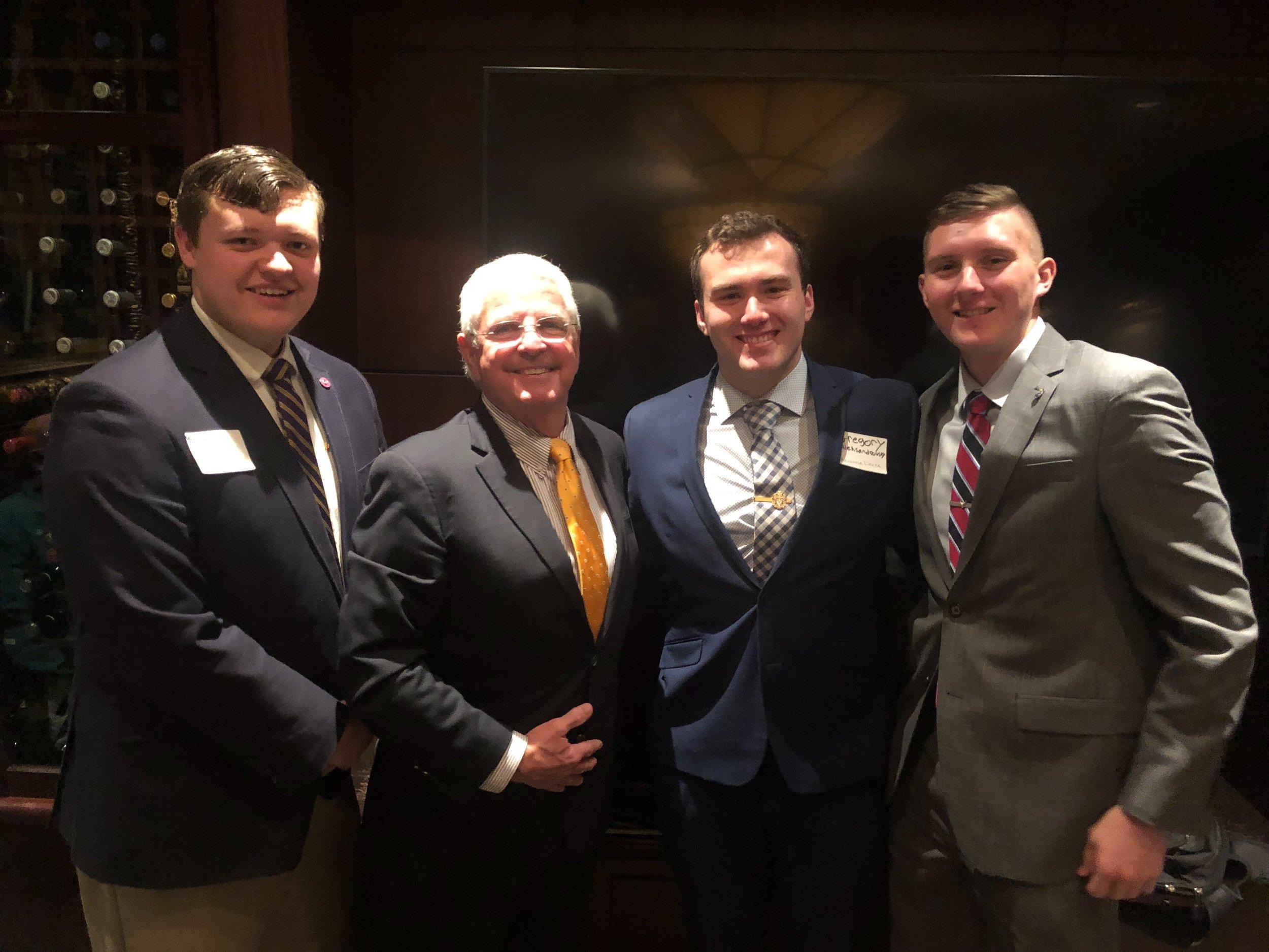 Brothers of Arizona Delta greet John Shadegg