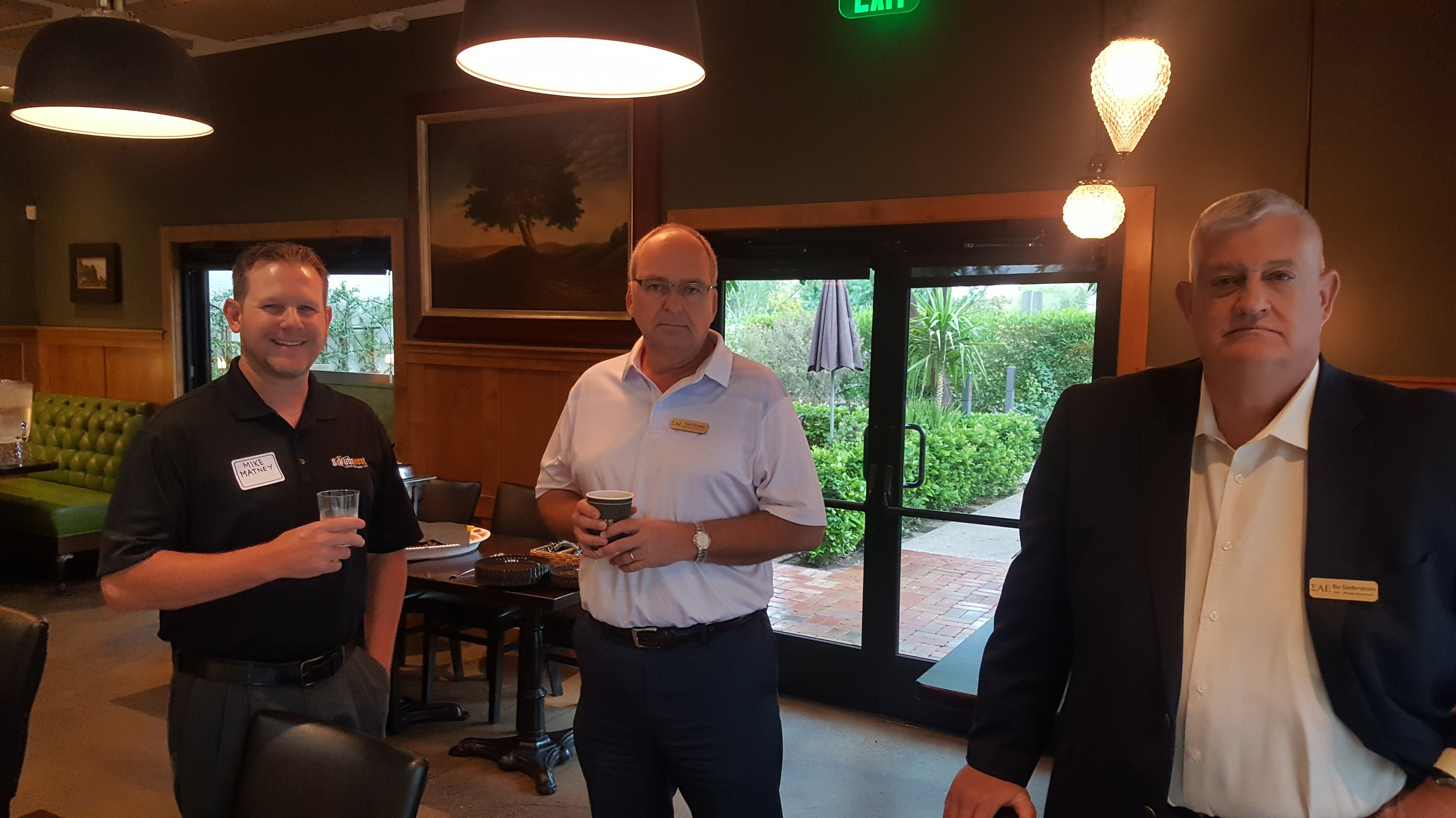 Mike Matney, MI Alpha (L), Todd Stingley NE L-P (C) and Bo Sederstrom AZ Gamma