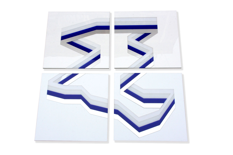 4 frames / 40 X 40 cm each - Polymethyl methacrylate – Aluminium -