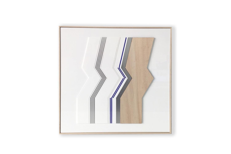 1 frame / 50 X 50 cm - Polymethyl methacrylate – aluminium – wood -
