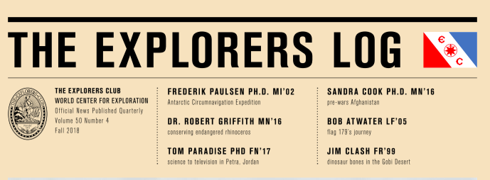 Explorer's Club:  - We gave a talk at the Piedmont Chapter monthly gathering