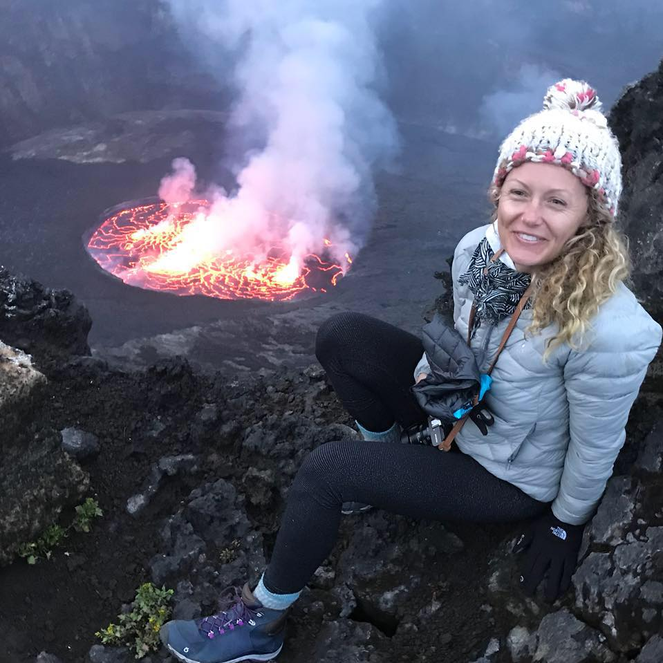 New Year's Eve climb up Mount Nyiragongo, Virunga National Park, DRC
