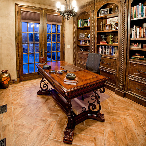 Traditional Baroque Home Office