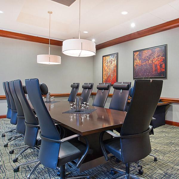 Contemporary Corporate Board Room
