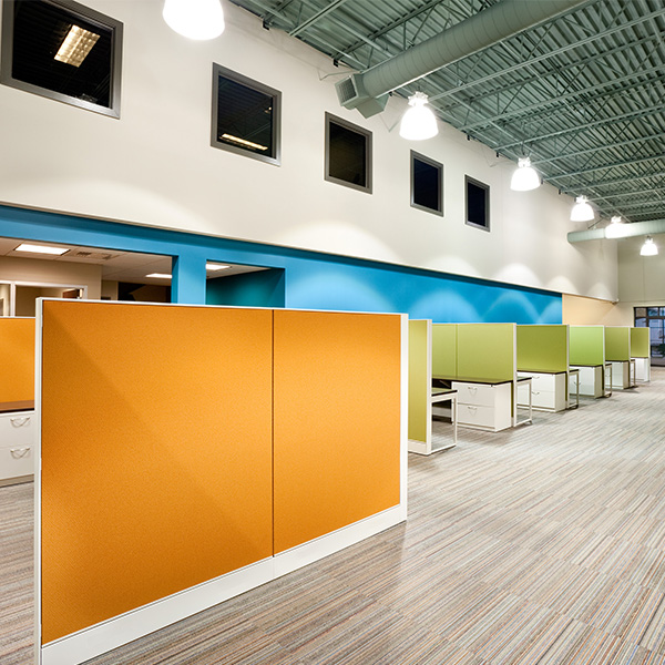 Corporate Open Office Cubicles