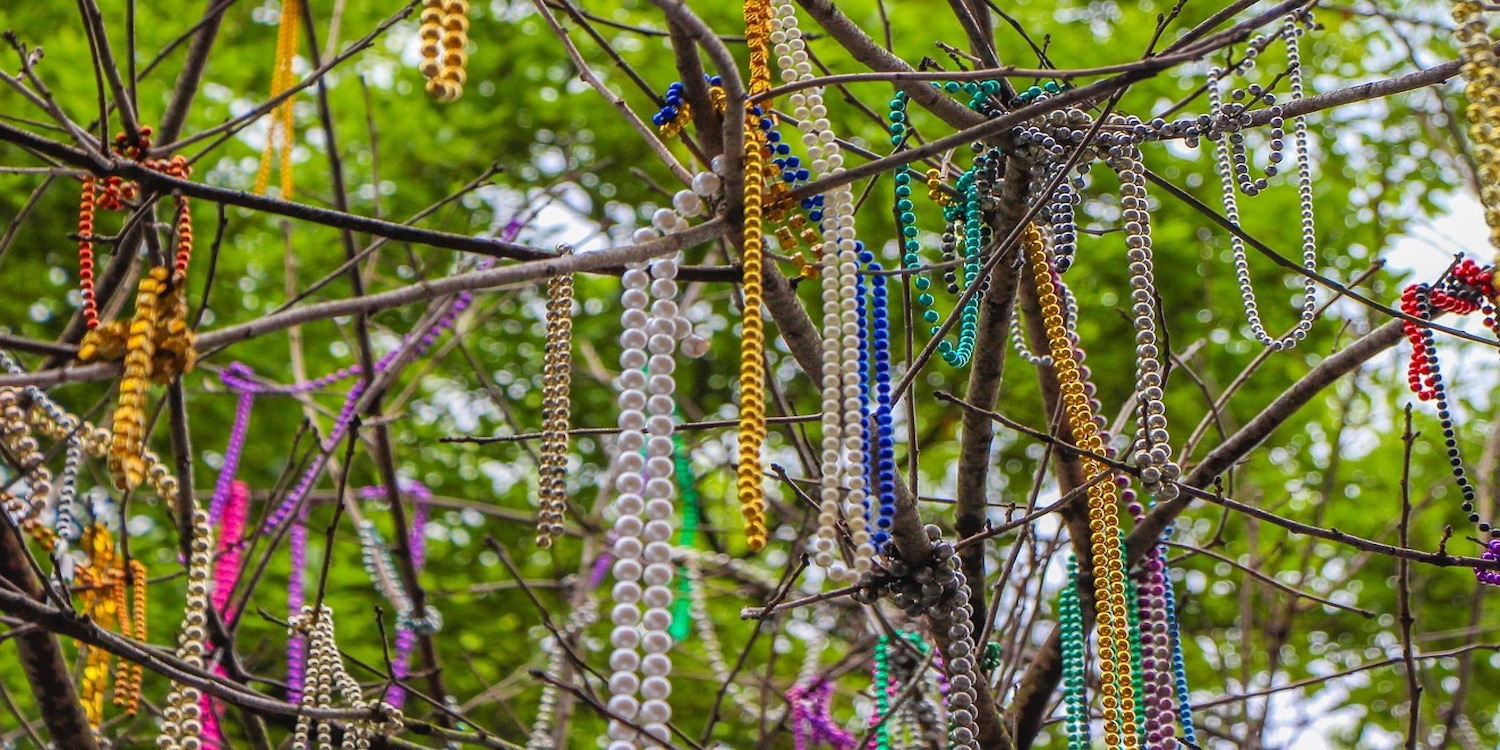 In 2019, 2 million pounds of waste, comprised moslty of disposable plastic beads and unrecycled bottles and cans, were collected off the streets of New Orleans and sent to the landfill during two weeks of Carnival season.