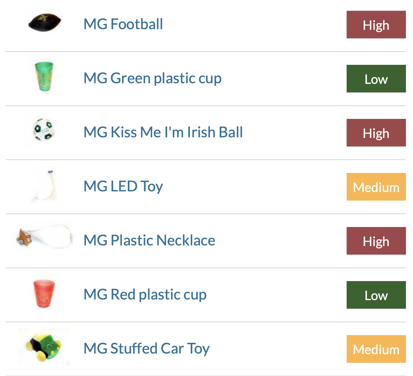 Mardi Gras Throws Report - HealthyStuff.org research finds thousands of pounds of hazardous chemicals in plastic beaded products, including beaded holiday garlands and Mardi Gras beads. Product Test Samples from 2013.