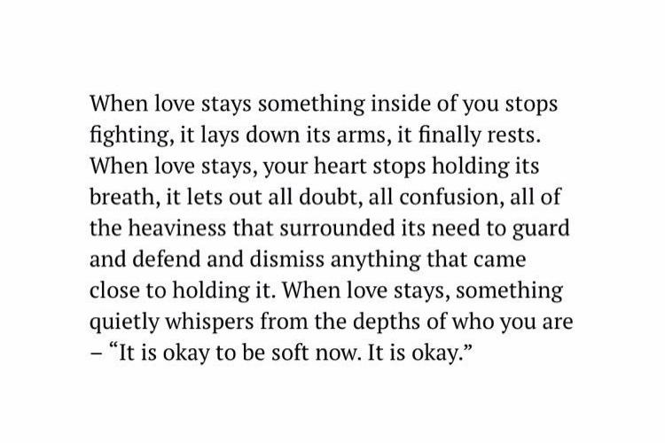 When love stays…