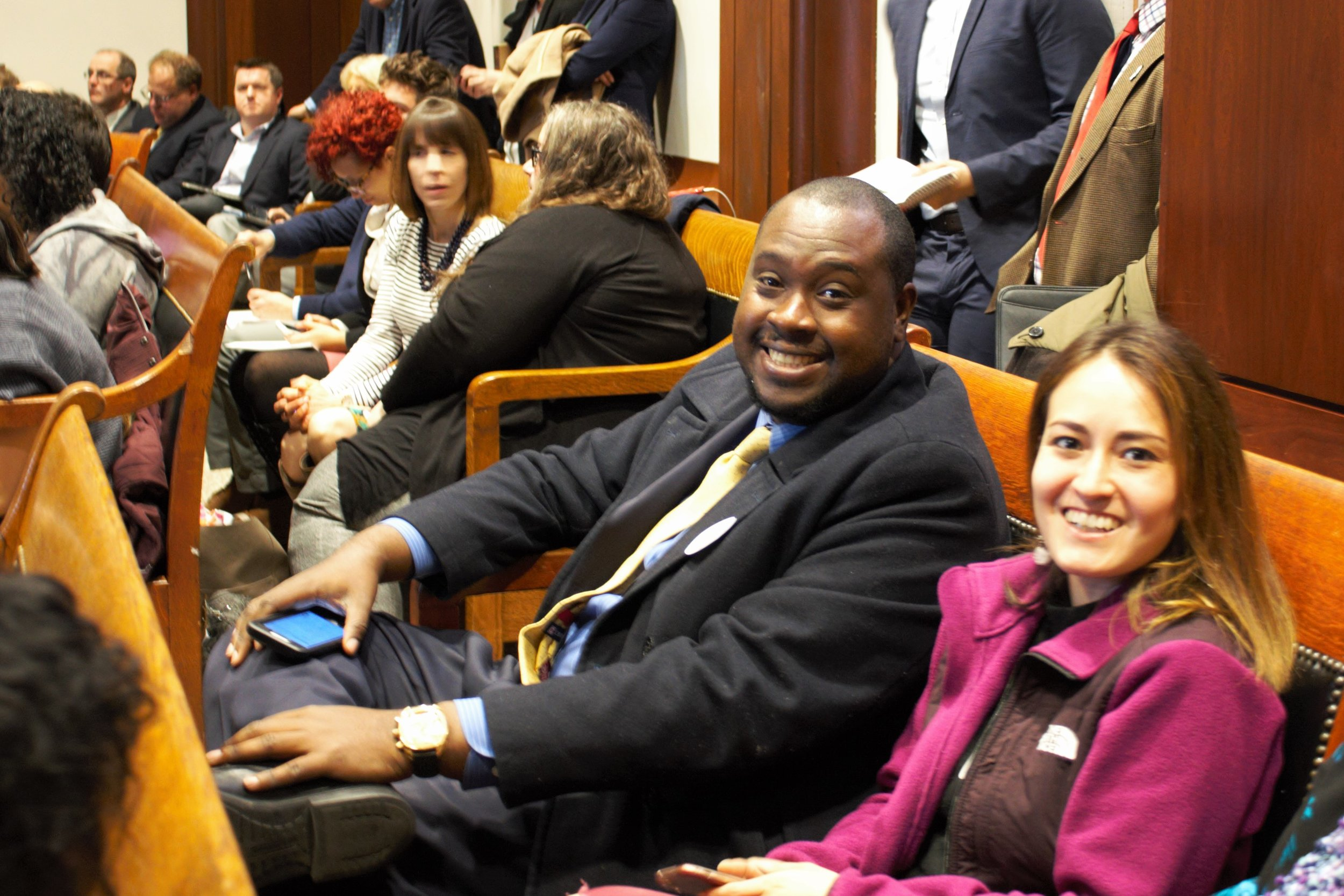 Supporters of Fair Workweek MA bill at hearing, April 9, 2019