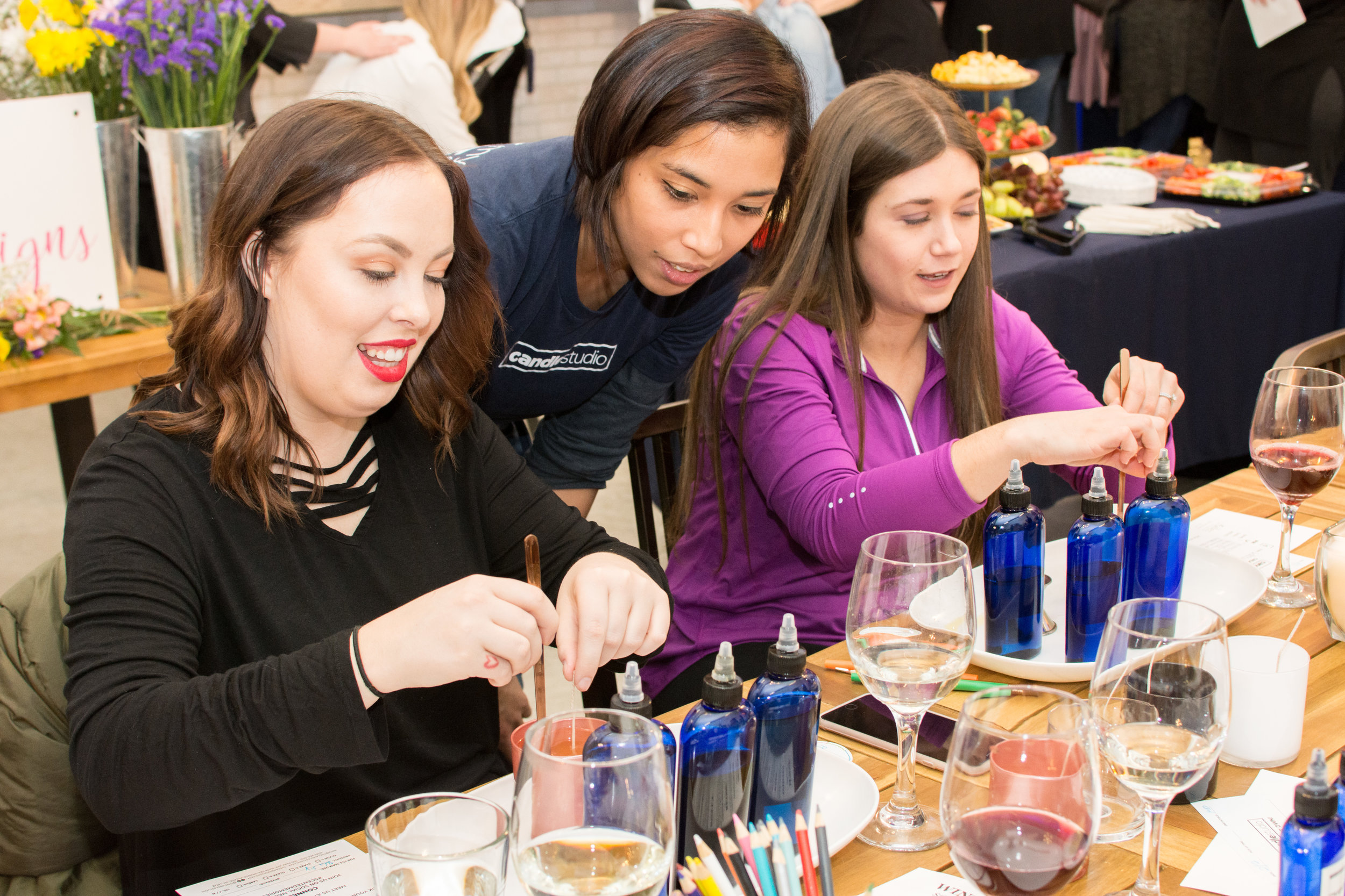 Our scent stylists will walk you and your group through the entire candle making process, making sure your experience is a memorable one.