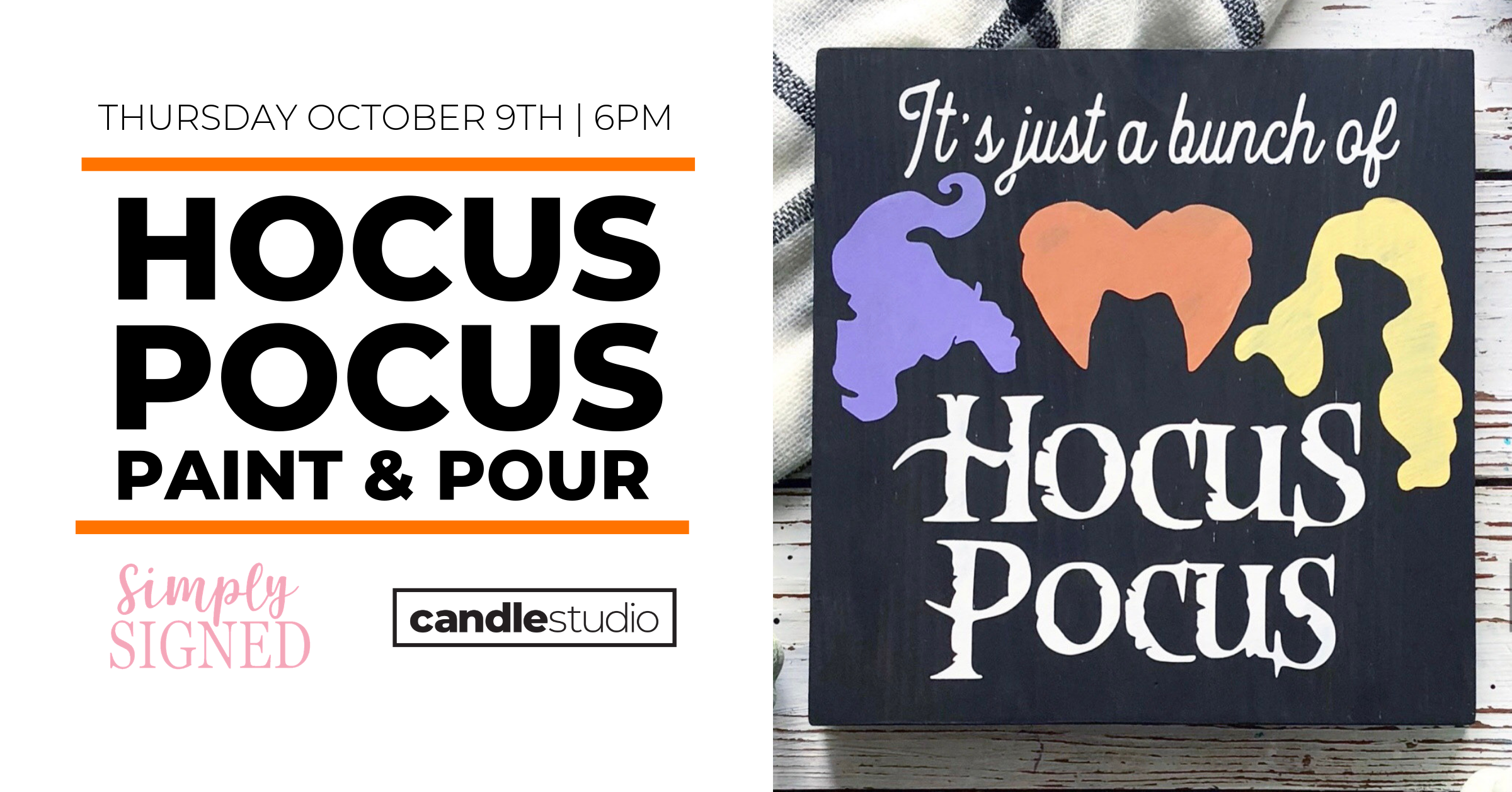HOCUS POCUS PAINT AND POUR AT THE CANDLE STUDIO