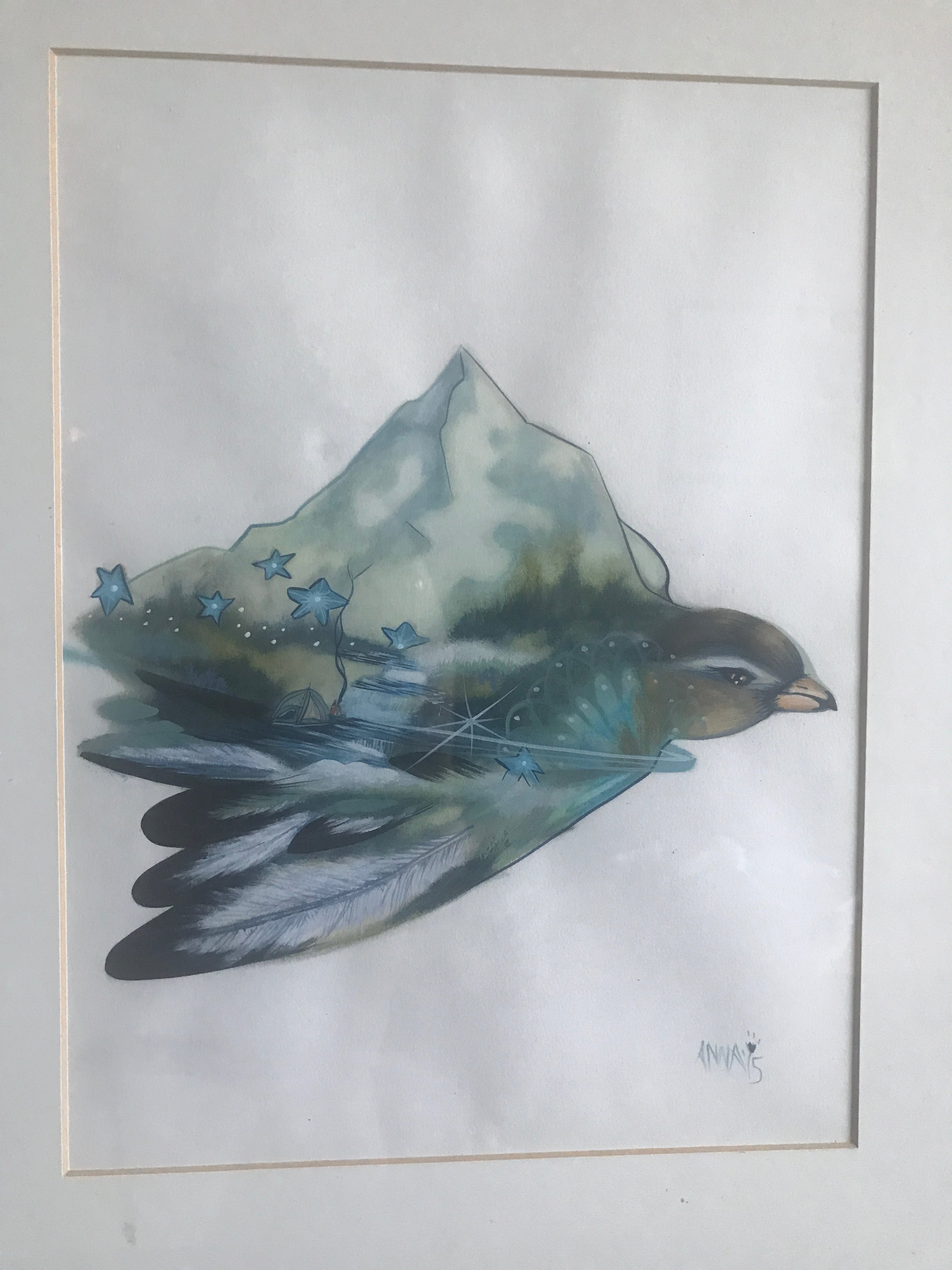 """""""Intuitive Birdscape"""" I would love to hear your interpretations of this painting."""
