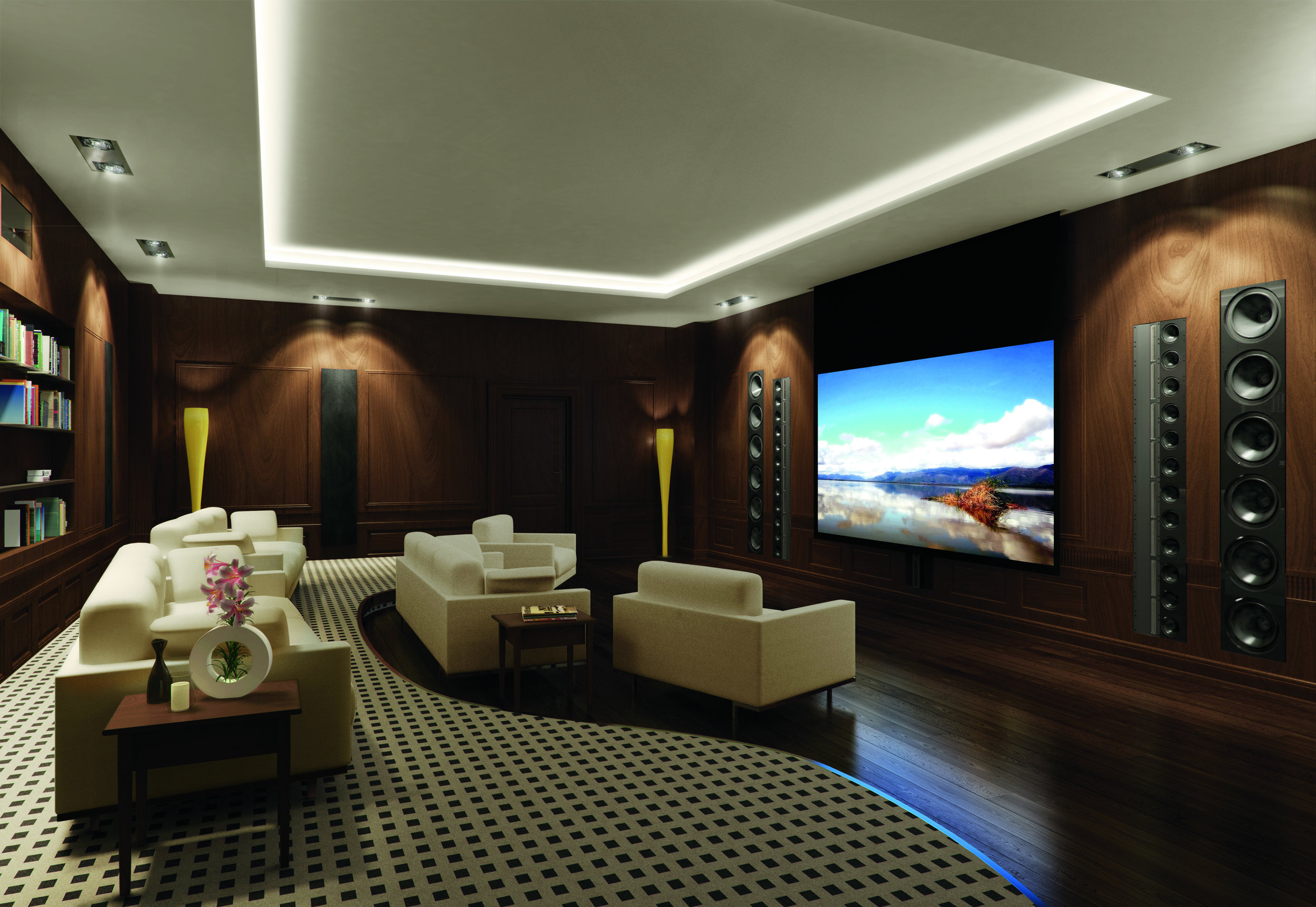 Audio integrated into the most beautiful rooms