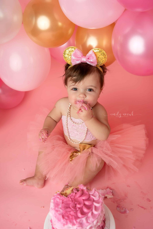 Pittsburgh Newborn Family Photographer Emily Novak Photography Harper S 1st Birthday Cake Smash Valencia Pa Photographer