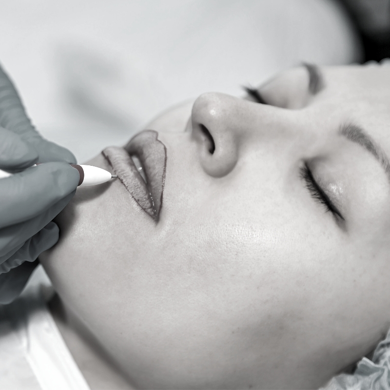 Envy PMU lip liner and lip shading tattooing of permanent makeup in Charlotte, NC.