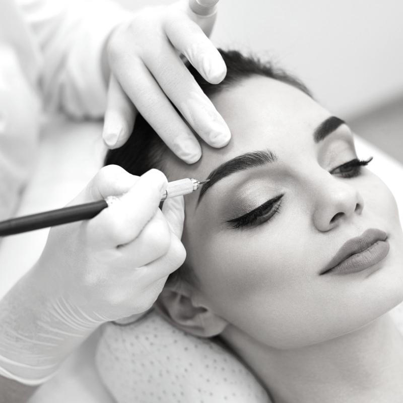 Envy PMU permanent makeup manual brow shading service in Charlotte, NC.