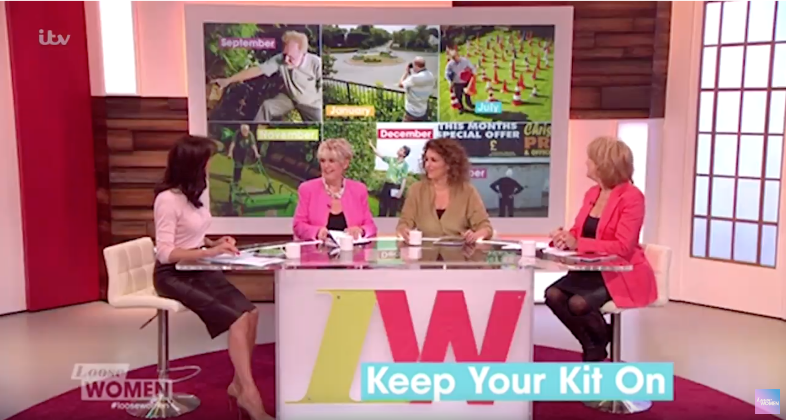 Loose Women - Our photography on the Dull Men's Club calendar appeared on numerous national TV programmes, including ITV National News, The Wright Stuff and Loose Women.