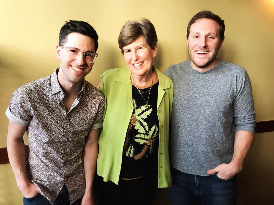 Nancy with her two sons, Casey (left) and Jeff (right), who both graduated from the Edmonds School District.