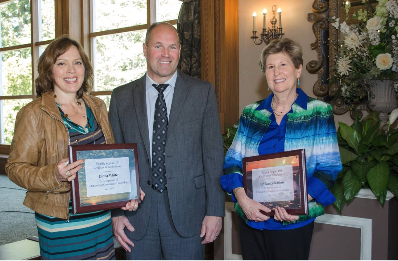 In 2015, Nancy received the Outstanding Student Achievement Award from the Washington Association of School Administrators, along with a similar recognition for current School Board President Diana White.