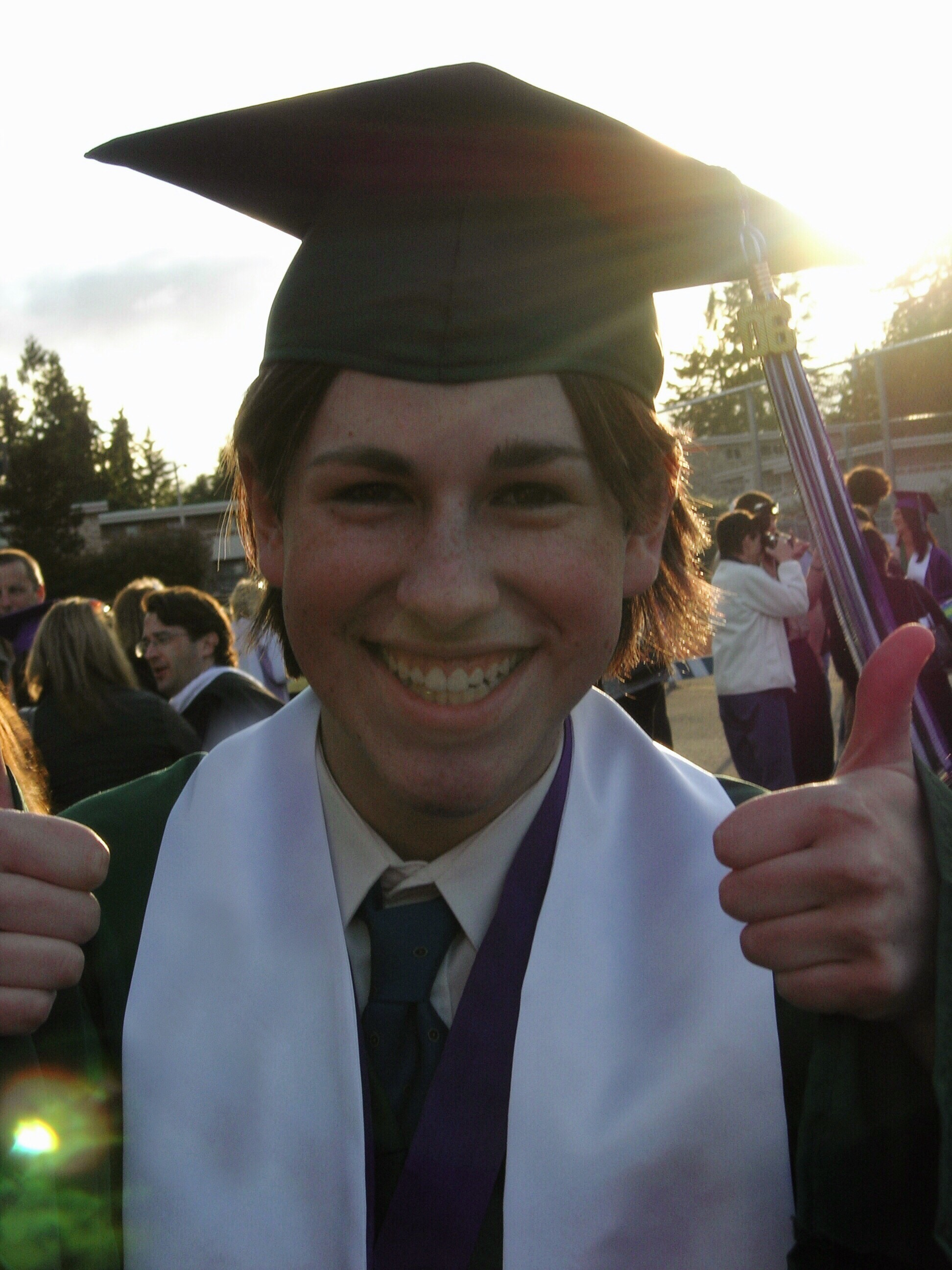 Nancy's younger son, Casey, at his graduation from Edmonds-Woodway High.